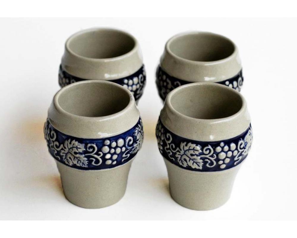 4 стакана, керамика Германия