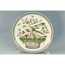 Декоративная настенная тарелка Птицы Хутченройтер