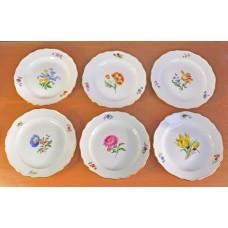 "6 тарелок ""Цветы"" Майсен Meissen 18 см"