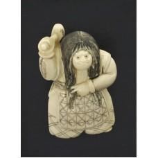 """НЕЦКЕ """"Артист"""" каракури слоновая кость Япония"""