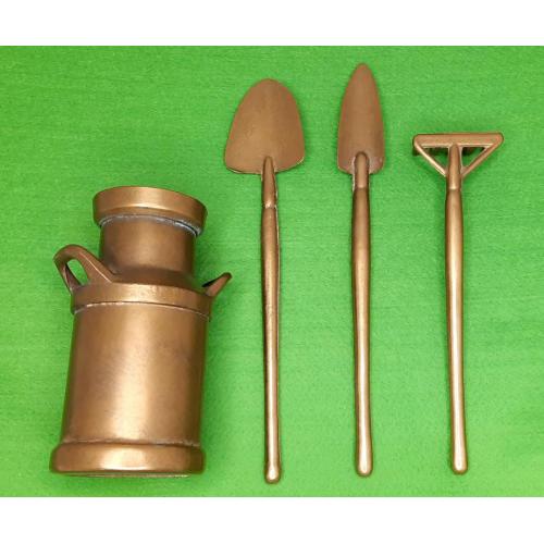 Декоративный набор садовника, латунь