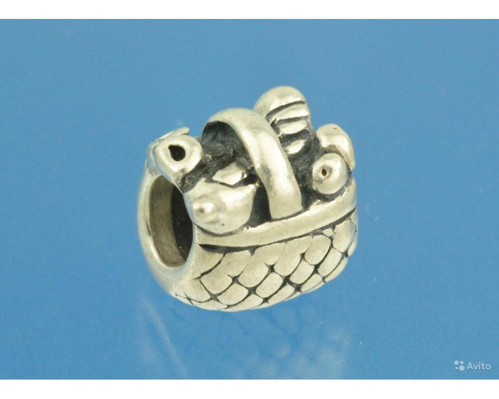 ПОДВЕСКА шарм для браслета Pandora серебро