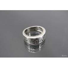 КОЛЬЦО серебро 925 пробы шпинель