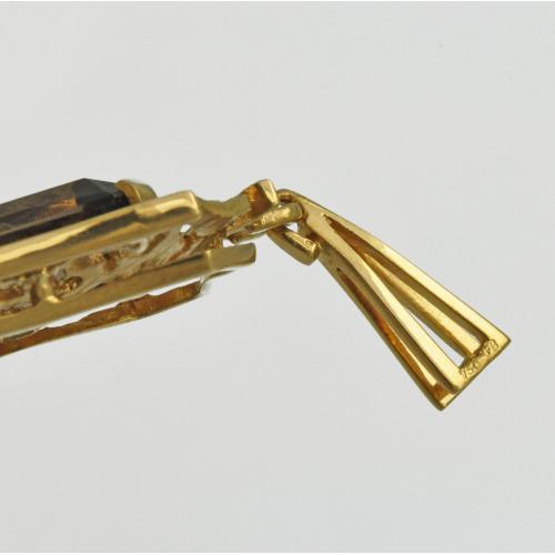 Винтажный КУЛОН золото 750 пробы РАУХТОПАЗ