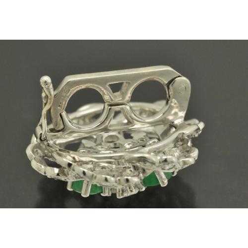 КЛИП для жемчужного колье золото 585 пробы Бриллианты