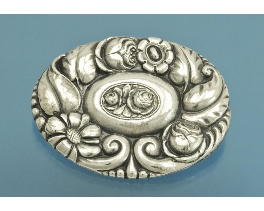 Старинная БРОШЬ серебро 800 пробы Модерн Германия