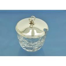 ВАЗОЧКА для желе / конфитюра стекло серебро 925 пробы