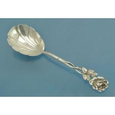 Десертная ЛОЖКА серебро 835 пробы Роза