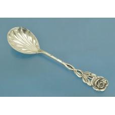 ЛОЖКА для сахара серебро 800 пробы Роза