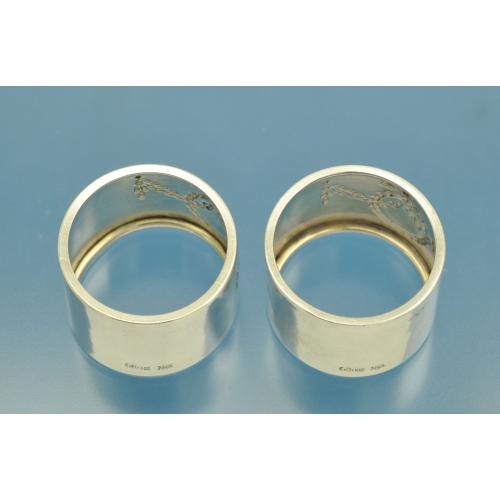 2 САЛФЕТОЧНЫХ КОЛЬЦА серебро 800 пробы Германия