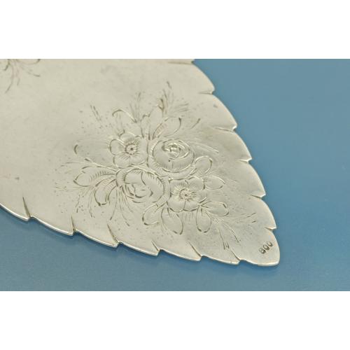 ЛОПАТОЧКА для торта Роза серебро 800 пробы